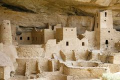 Indian ruins at Mesa Verde Royalty Free Stock Image