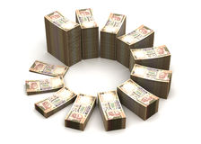 Indian Rupee Chart. (computer generated image Royalty Free Stock Photos