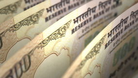 Indian Rupee Close-up Royalty Free Stock Photos