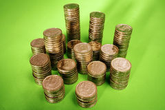 Indian rupee coins Stock Photo
