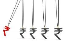 Indian Rupee Concept. 3d render stock illustration