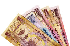 Indian Rupee currency bills Stock Photo