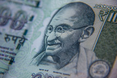 Indian Rupee. Indian 100 Rupee currency in Closeup royalty free stock images