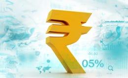 Indian Rupee icon. 3d illustration Stock Photo