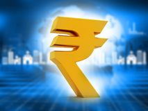 Indian Rupee icon. 3d illustration Royalty Free Stock Photo