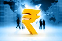 Indian Rupee icon. 3d illustration Royalty Free Stock Images