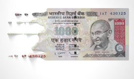 Indian Rupee Melting Dripping Banknote Royalty Free Stock Photos