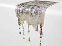 Indian Rupee Melting Dripping Banknote Royalty Free Stock Images