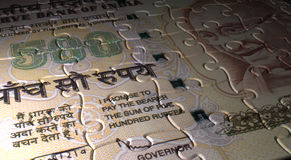 Indian Rupee Puzzle Stock Images