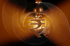 Indian Rupee sign Stock Photo