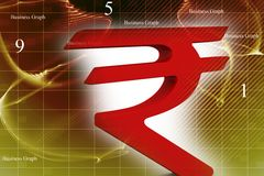 Indian rupee symbol Stock Photography