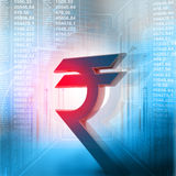Indian rupee symbol Stock Image