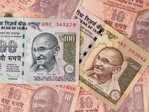 Indian rupees banknotes background, India money closeup Royalty Free Stock Photography
