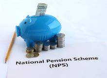 Indian Rupees Investment in National Pension Scheme NPS royalty free stock images