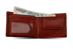Indian Rupees and Wallet Royalty Free Stock Photo