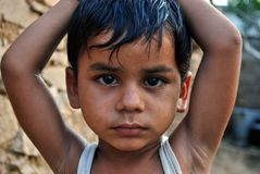 INDIAN RURAL BOY Stock Photos