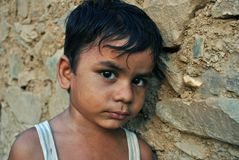 Indian rural boy Stock Photo