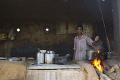 Indian rural cook Royalty Free Stock Photos