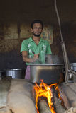 Indian rural cook Royalty Free Stock Photography