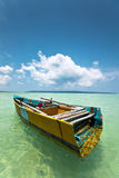 Indian Rustic Boat Stock Photo