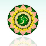 Indian sacred symbol Aum Royalty Free Stock Photography