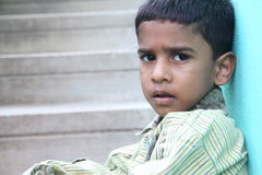 Indian Sad Little Boy Stock Photos