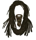 Indian sadhu hairstyle With beard.Hair dreadlocks.funny avatar. Indian sadhu hairstyle With beard.Hair dreadlocks funny avatar vector illustration