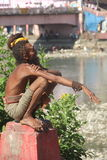 Indian sadhu. royalty free stock photos