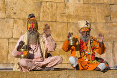 Indian sadhu (holy man) Stock Photography