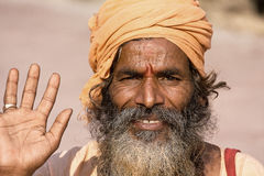 Indian sadhu (holy man) Royalty Free Stock Photos