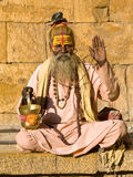 Indian sadhu (holy man) Royalty Free Stock Images