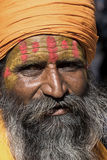 Indian sadhu (holy man).  Jaisalmer, Rajasthan, India. Royalty Free Stock Photography