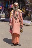 Indian sadhu - holy man. Pushkar , India Royalty Free Stock Image