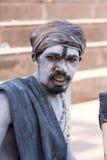 Indian sadhu (holy man). Varanasi, Uttar Pradesh, India. Royalty Free Stock Photo