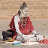 Indian sadhu (holy man). Varanasi, Uttar Pradesh, India. Royalty Free Stock Photo
