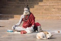 Indian sadhu (holy man). Varanasi, Uttar Pradesh, India. Stock Photography