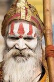 Indian sadhu (holy man). Varanasi, Uttar Pradesh, India. Stock Photos