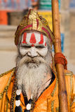 Indian sadhu (holy man). Varanasi, Uttar Pradesh, India. Stock Photo