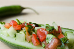 Indian salad made from cucumber Royalty Free Stock Images
