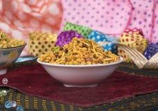 Mix Namkeen Food. Indian Salty and spicy food Mix Namkeen royalty free stock photo
