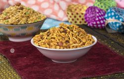 Mix Namkeen Food. Indian Salty and spicy food Mix Namkeen royalty free stock images
