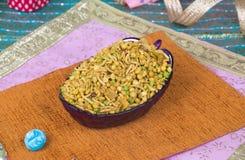 Mix Namkeen Food. Indian Salty and spicy food Mix Namkeen royalty free stock photos