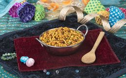 Mix Namkeen Food. Indian Salty and spicy food Mix Namkeen royalty free stock photography