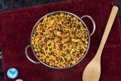 Mix Namkeen Food. Indian Salty and spicy food Mix Namkeen stock photos