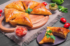 Indian Samosa pies Stock Photos