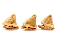 Indian samosa snacks Stock Photos