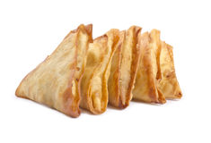 Indian Samosas Isolated on White #4 Royalty Free Stock Photography