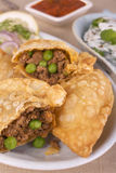 Indian Samosas With Spicy Lamb Stock Images
