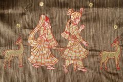 Indian Saree design. Royalty Free Stock Images