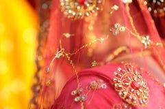 Indian Sari. The details of a sari, worn by Hindu women throughout India Royalty Free Stock Photos